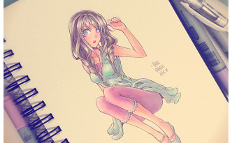 Girl - Colorazione Copic