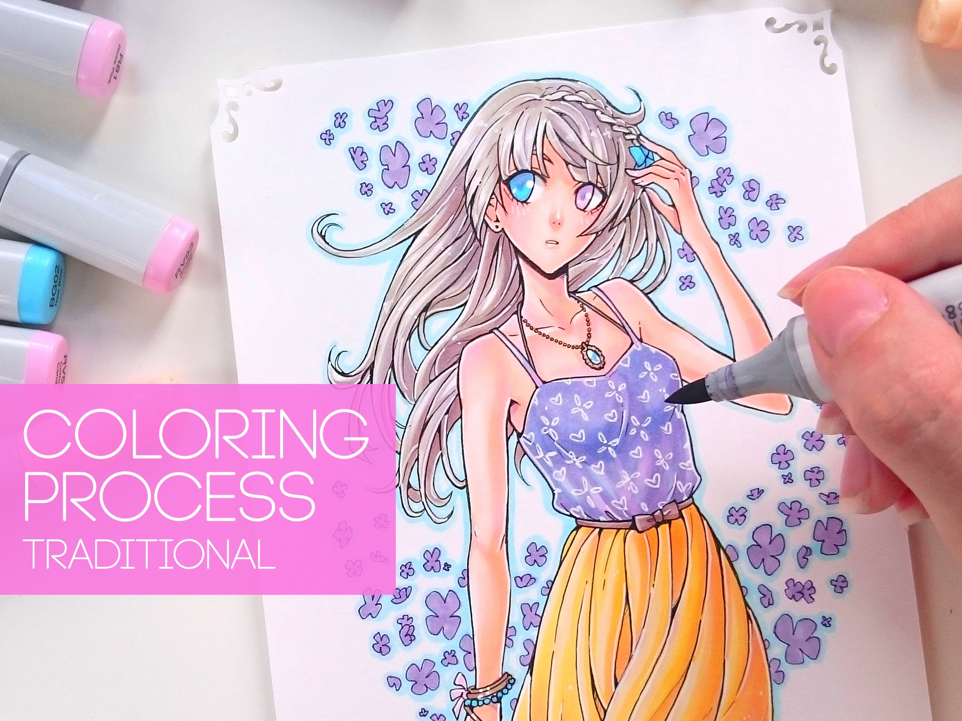☆ [DAHLIA] – Copic Coloring Process Video – Sara Fabrizi